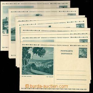 25091 - 1939 CDV6/1-12, complete. picture set, superb, c.v.. 1200CZK