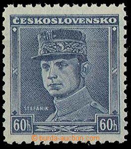 25103 - 1939 Alb.1, modrý Štefánik 60h, luxusní, kat. 800Sk