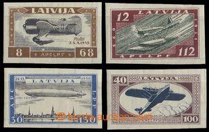 25104 - 1933 Mi.228-231B, nezoubkované, lehké stopy, kat. 250€