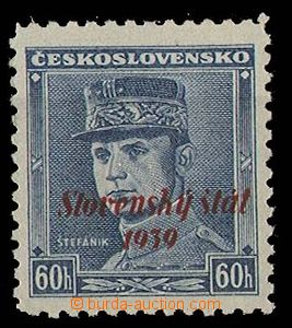 25105 - 1939 Alb.11, blue Štefánik with overprint, exp. Gilbert, c