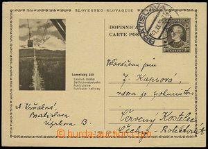 25111 - 1939 CDV4/22 Lomnický štít, do ČaM, DR Bratislava 7.XII.