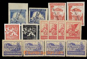 25115 - 1945 Slavkovské issue 2x 60h + 2x 120h, Skalica 4x 1,50Kčs