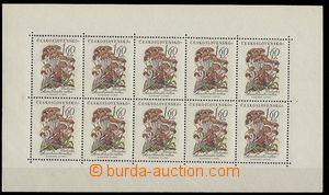 25123 - 1958 Pof.PL1022 Mushrooms, 1,60Kčs, ribbed paper from produ