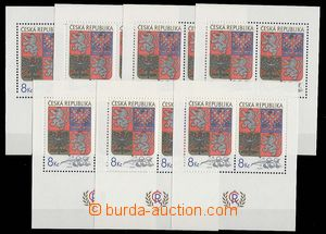 25134 - 1993 7x miniature sheet Pof.A10, face-value 112CZK, superb,