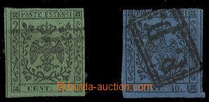 25200 - 1852 Mi.1/I., 5/I., s tečkou za číslicí,  velmi slušné