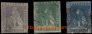 25203 - 1853 Mi.8y, 14, 15, Lion, close margins, to examination, c.v