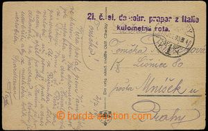 25211 - 1919 21. Czechosl. home-defence. batt./guidon from Italy / M