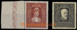 25233 - 1933 Mi.140, 141, hodnota 2Fr s okrajem,  svěží, kat. 380