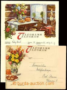 25234 - 1940 congratulatory telegram  incl. envelope/-s,  Vesnická