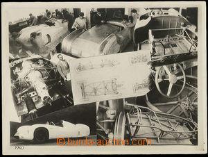 25259 - 1950? konstrukce závodních automobilů Tatra, fotokoláž,