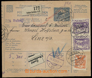 25265 - 1921 larger part international. dispatch-note CPP15 with 2x