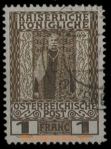 25268 - 1906 CRETE   Mi.22, 1Fr., part of postmark ÖSTERR, label,