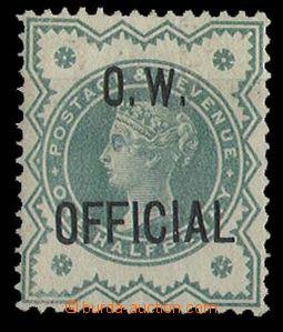 25294 - 1901 přetisk OW/OFFICIAL, Mi.66, vzadu popis tužkou, kat.