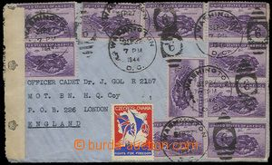 25297 - 1944 letter from USA to England with Brit. censorship with 1