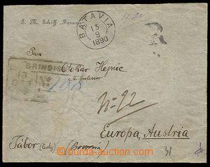 25311 - 1890 SM Schiff FASANA  hlavičková (!) obálka zaslaná jak