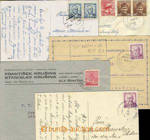 25343 - 1945 5ks celistvostí s otisky znárod. razítek VLP č.347