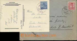 25346 - 1945 2ks celistvostí s otisky znárod. razítek VLP č.154