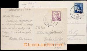 25347 - 1945 2ks pohlednic s otisky znárod. razítek VLP č.122 KUT