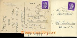 25348 - 1944 GERMANY  2 pcs of Ppc to Bohemia-Moravia, with print Ge