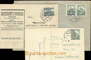 25352 - 1939 3ks celistvostí s otisky předb. razítek VLP č.86 PR