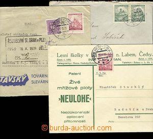 25354 - 1939 sestava 3ks dopisů s otisky předběžných razítek V