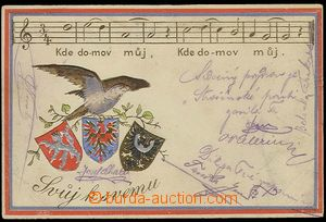 25377 - 1905 Anthem-issue?, falcon with emblems of Bohemia, Moravia