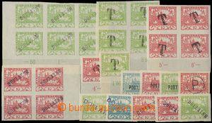 25383 - 1919 Doplatní provizoria - sestava 11 ks zn. + 4 ks vícebl