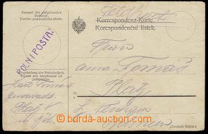 25391 - 1914 provisional postmark FIELD POST on/for official card se