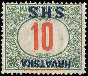 25405 - 1918 porto zn. 20f s převráceným přetiskem Hrvatska SHS,