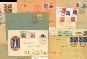 25423 - 1939 13ks poštou prošlých celistvostí s  PR1b, 2b, 3a, 1