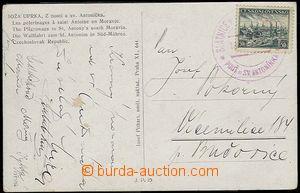 25426 - 1939 barevná pohlednice z pouti u sv. Antoníčka s PR7, po