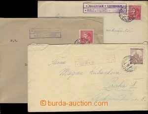 25443 - 1940 3 pcs of entires with postal agency pmk MAJETÍN (Brode