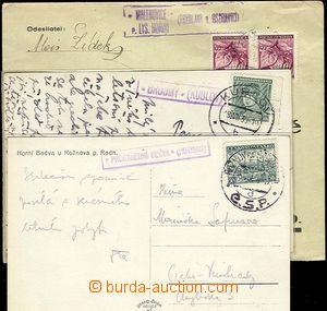 25450 - 1939 3 pcs of entires with forerunner postal imprints postal