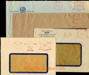 25466 - 1939 4ks okénkových obálek s otisky předběžných OVS: