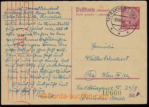 25486 - 1944 II. odpovědní díl německé(!) dopisnice 15Pf Hinden