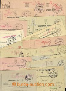25494 - 1941 - 44 selection of 16  pcs cards with various postmarks