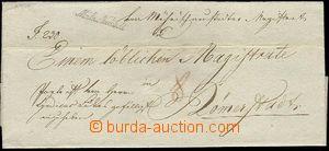 25526 - 1830 skládaný přebal pro  dopis,  řádkové razítko  M�