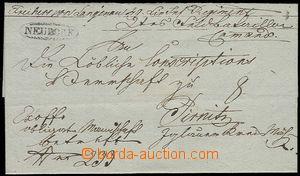 25529 - 1837 skládaný dopis Ex offo, ovál. razítko NEUDORF, pěk