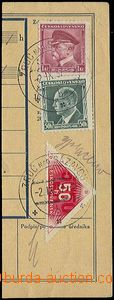 25536 - 1937 cut money dispatch-note franked with. i.a. delivery sta