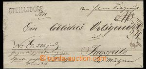 25546 - 1833 folded service letter with straight line postmark STEIN