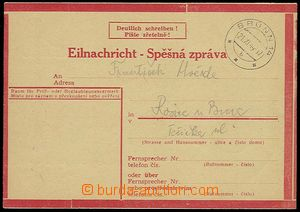 25584 - 1944 stationery Express Card No.1 on yellow paper, type II.,