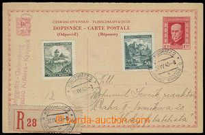 25603 - 1940 CDV36/II.,  as parallel in Bohemia-Moravia, sent as Reg