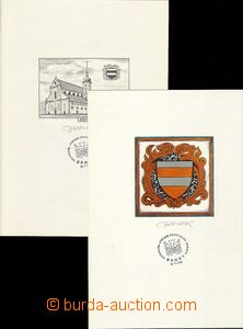 25606 - 1984 2x  graphics sheets to  philatelic exhibition BRNO 84,