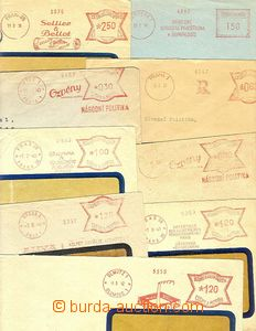 25616 - 1940 FRANKOTYPY / ČSR I.+II., ČaM  10ks dopisů s různým