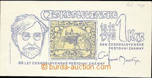 25623 - 1978 ministry New Year card PF1979 Alfons Mucha, picture sta