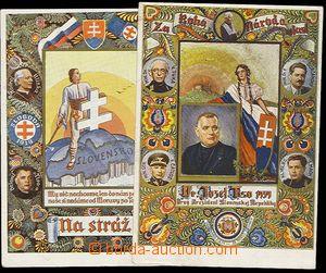 25624 - 1939 comp. 2 pcs of propagandistic Ppc Tiso, Na stráž!, co