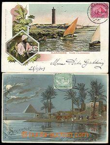 25632 - 1903 EGYPT  sestava 2ks pohlednic, z toho 1x lito pyramidy v