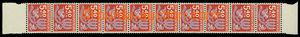 25642 - 1971 Pof.D102ya, 10-páska známky 5,40Kčs, papír f1, oba