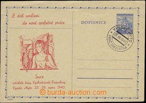 25666 - 1945 CDV76 with red additional-printing Sokol Vysoké Mýto,