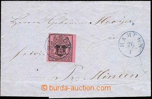 25684 - 1857 folded letter with Mi.3, blue CDS Hameln 20/1, good con